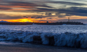 La Barre - plage - coucher de soleil (Anglet)